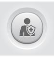 Personal Insurance Icon Grey Button Design vector image vector image