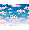 pink clouds seamless pattern vector image vector image
