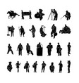 profession work silhouette vector image