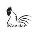 rooster disign on white background farm vector image vector image