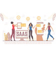 saas business platform in different digital device vector image vector image