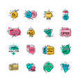 sale with special offer and hot prices icons set vector image vector image