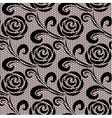 Seamless black retro roses lace pattern vector image vector image