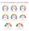 set 8 templates semicircle diagram infographics vector image vector image