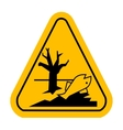 Sign of poisonsous Dead fish vector image vector image