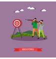 Sport shooting range banner Competition games vector image