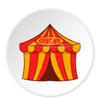 Striped circus tent icon cartoon style vector image vector image