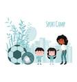 summer children camp concept summer sport school vector image vector image