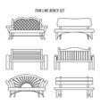 thin line bench set