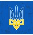 Ukraine trident stamp vector image vector image