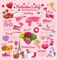 valentines day holiday colorful infographics vector image vector image