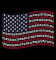 waving united states flag stylization of bank vector image
