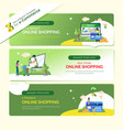 web banner online shop payment vector image vector image