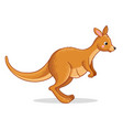 with a cute kangaroo vector image