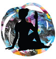 women silhouette half lord of fishes yoga pose vector image vector image