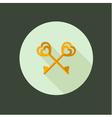 key couple circle icon flat design vector image