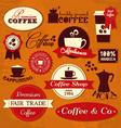 retro coffee labels vector image