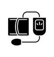 blood pressure gauge - measuring icon vector image