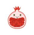 pomegranate garnet icon vector image