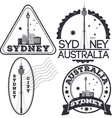 Sydney city stamps vector image