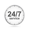 24 hours 7 days customer service icon vector image