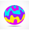 abstract colorful ball with striped waves vector image