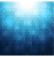 abstract mosaic blue background vector image vector image