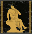 ancient greek man vector image vector image