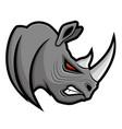 angry gray rhino vector image