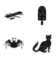 animal home nature and other web icon in black vector image vector image