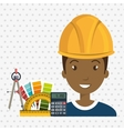 architect tool man work vector image