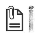 attach document icon with job bonus vector image vector image