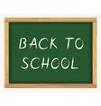 Back to school blackboard poster vector image vector image