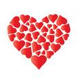 big beautiful heart made of hearts vector image