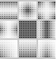 Black and white circle pattern set vector image vector image