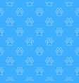 blue footprint seamless pattern vector image