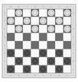 board and checkers to play vector image vector image
