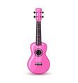 bright pink ukulele hawaiian folk musical vector image