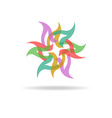 Buisness logo - colorful abstract flower vector image vector image