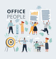 business peoples acting in vector image
