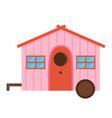 cartoon bird house icon vector image vector image