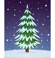 Cartoon Pine Tree vector image vector image