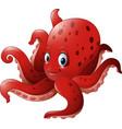 cartoon smiling octopus vector image