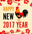 Chinese New Year Background with Roosters vector image vector image