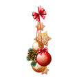 christmas decoration in the form of a bundle red vector image vector image