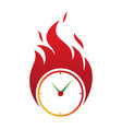 clock fire deadline icon in abstract style vector image vector image