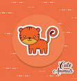 cute tiger icon image vector image