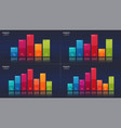 easy editable 5 6 7 8 options infographic vector image vector image