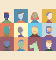 flat character design young men and women vector image vector image