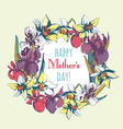 Floral flower narcissus iris hand drawn vintage vector image vector image